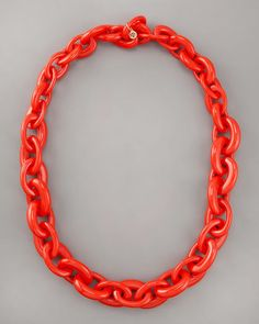 Tory Burch necklace perfect for spring ! #coral #ToryBurch #necklace http://chicgalleria.com/2012/03/bright-tory-burch/
