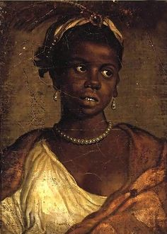 School of Paolo Veronese Portrait of a Moorish Woman Italy (c. 1550s) oil on canvas on panel 38mm x 25mm This is a panting made by one of th...