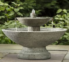 Jensen Fountain, great cast stone water feature featuring copper spillers for balconies or patios!