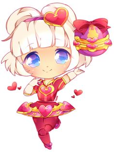 Hey guys! Here's another League of legends Chibi! I figured since heartseeker ori just came out, and valentines day is around the corner, why not include this skin in my collection to sell as print...