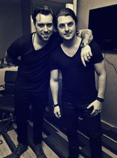 Sebastian Ingrosso and Axwell. Meh music, but Swedish guys... yes.