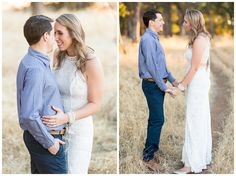 Sunset Engagement Portraits Golden Hour | engaged couple getting married in six months having engagement pictures taken