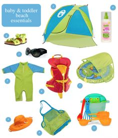 Infant, baby & toddler beach gear essentials.  See more at :http://ow.ly/Jdjup