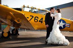 When 2 pilots marry--hangar reception.