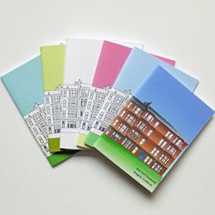 A lovely set of 6 small Glasgow journals in every colour in our Glasgow notebooks collection. This little collection of notebooks would make a