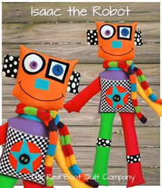 PDF  Isaac the Robot PDF Softie Pattern E by TheRedBootQuiltCo, $6.00