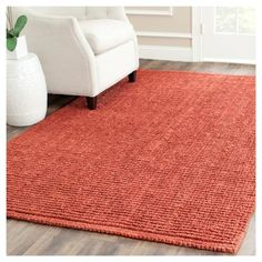 Serena Natural Fiber Accent Rug - Rust (Red) (2' 6 X 4') - Safavieh