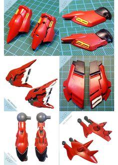 MG Sinanju Super Details modeled by Joshua Darrah | Gundam Century