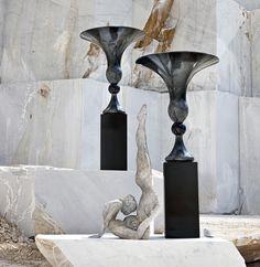 Perfect Balance - #homedecor #home #decor #interiordesign #interior #design #marbles #statues #sculptures #vases #vase #madeinitaly Interior And Exterior, Interior Design, Artificial Plants, Decorative Items, Photo Art, Classic Style, Cool Photos, Sconces, Cool Designs