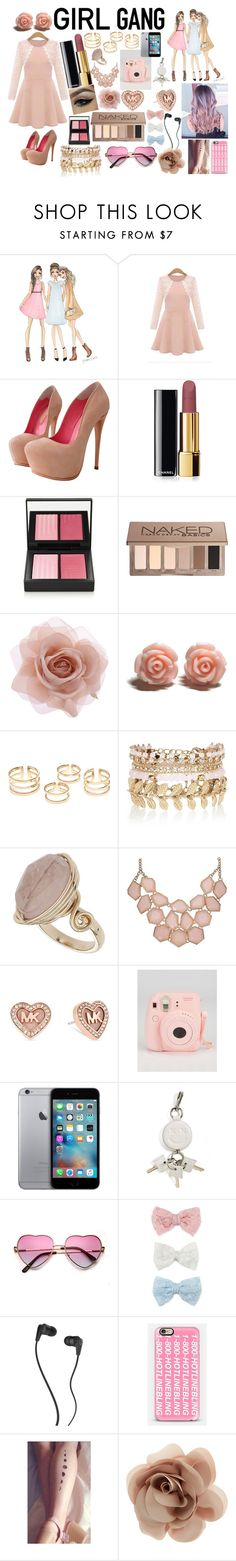 """""""#NoOneNeedsBoys"""" by sukh-deol ❤ liked on Polyvore featuring Chanel, NARS Cosmetics, Urban Decay, Accessorize, River Island, Topshop, Michael Kors, Alexander Wang, Decree and Skullcandy"""