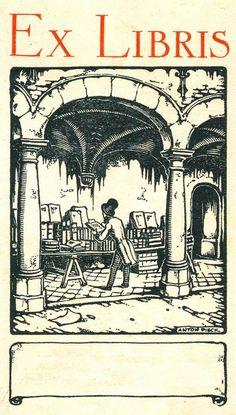 Ex Libris de Anton Pieck (Dutch, 1895-1987) ~ Anton Franciscus Pieck was a Dutch…