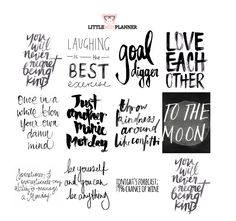 B&W Quote Week Box Planner Stickers {set of 12} Perfect for any Erin Condren Life Planner, planner, Filoflax, Plum Planner, or Kikki.K!