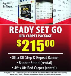 """""""Planning an Event? Our Ready Set Go Package is the most Affordable Red Carpet Package we offer. It ships to all 50 States in the US and starts at only $215.00! #Atlanta #AtlantaEvents #StepandRepeat #ReadySetGo #RedCarpetPackage #RedCarpetCompany #RedCarpet #RedCarpetEvent #Fashionshow #BabyShower #MoviePremiere #Film #MovieScreening #Eventprofs #AtlantaEventplanner #AtlantaWedding"""" by @redcarpetexpress (redcarpetexpress). • • What do you think about this one? @angry5000…"""