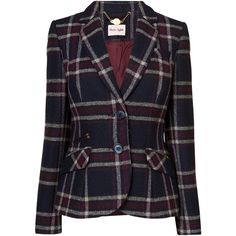 Phase Eight Esther Jacket, Navy/Beaujolais (5.745 RUB) ❤ liked on Polyvore featuring outerwear, jackets, blue tweed jacket, slim fit tweed jacket, checkered jacket, tweed jacket and phase eight