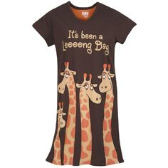 It's been a long day sleep shirt Long shirt pajamas giraffe it's been a long day very comfortable fits large and XL Lazy one Intimates & Sleepwear Pajamas Giraffe Decor, Giraffe Art, Cute Giraffe, Giraffe Clothes, Giraffes Cant Dance, Giraffe Pictures, Kinds Of Clothes, Sleep Shirt, Animal Fashion