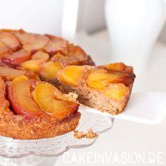 Pfirsich-Upside-Down-Kuchen mit Ingwer und Zimt (vegan, laktosefrei) - Rezepte