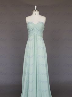 Custom made/Strapless Chiffon Dress/Bridesmaids by JadProm on Etsy, $109.00