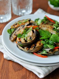 Thai-style Grilled Eggplant Salad | Yum Makeua | ยำมะเขือ