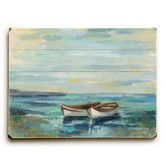 Found it at Wayfair - Boats at the Beach Painting Print on Plaque