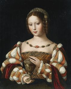 View Mary Magdalene holding the unguent jar by Master of the Female Half Lengths on artnet. Browse upcoming and past auction lots by Master of the Female Half Lengths. Portrait Renaissance, Mode Renaissance, Renaissance Kunst, Renaissance Paintings, Renaissance Costume, Renaissance Fashion, Renaissance Clothing, Italian Renaissance, 16th Century Clothing