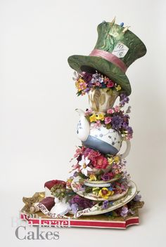 Stunning Mad Hatter Tea Party cake