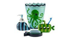 Circo® Sea Life Bath Collection - I LOVE Circo Bath products! Especially the pirate octopus wastebasket.