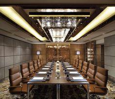 The Ritz-Carlton, Hong Kong - Emerald meeting room #Office #meetings #meeting room