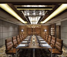 The Ritz-Carlton, Hong Kong - Emerald meeting room #Office #meetings #meeting room