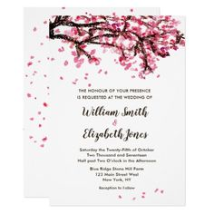 Find customizable Cherry Blossom invitations & announcements of all sizes. Pick your favorite invitation design from our amazing selection. Tree Wedding, Diy Wedding, West New York, Wedding Thank You Gifts, Cherry Blossom Wedding, Invitation Design, Spring Wedding, Special Events, Wedding Invitations