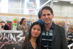 Au Salon du Livre de l'Estrie avec Dominic Bellavance :)