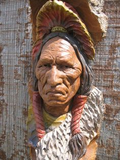 Close up of an Indian with a Shield, carved by Jeff Phares from cottonwood bark. Native American Pictures, Indian Pictures, Native American Indians, Native Americans, Native Indian, Tree Carving, Wood Carving Art, Wood Art, Wood Carvings