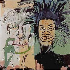 Jean-Michel Basquiat  앤디워홀과 바스키아다! 섬세하지 않지만, 각 인물의 특징을 잘 잡아냈다. 섬세하지 않고 즉흑적인 그의 작품들이 더 바스키아만의 작품세계를 보여주는것 같다.