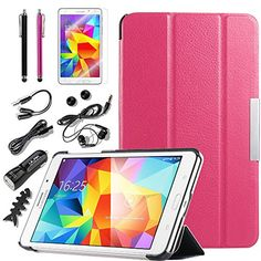"Samsung Galaxy Tab 4 7.0 case, ULAK Ultra Slim Fit Case for Samsung Galaxy Tab4 7.0"" T230 /T231/ T235 Galaxy Tab 4 Nook Tablet Case with Screen Protector Stylus and Accessories Boundle (Rose Pink) ULAK http://www.amazon.com/dp/B00Q6MEOW6/ref=cm_sw_r_pi_dp_l4eFub0YZJBSM"