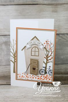 Yvonne is Stampin' & Scrapping: Stampin' Up! Sheltering Tree & Sweet Home 'new home card' #stampinup