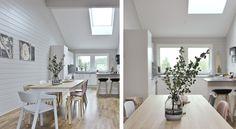 moderne Küche mit VELUX Dachfenstern