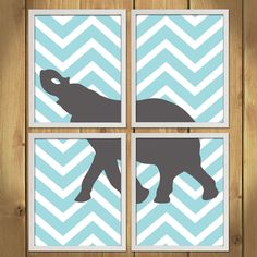 Animal Nursery Art Print  Chevron Elephant by MadeForYouPrints, $42.95