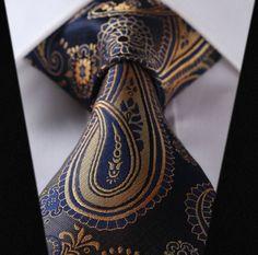 Quiet Storm Paisley Tie and Handkerchief