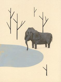 Geraldine alibeu Art Et Illustration, Illustration Animals, Little Elephant, Animation, Cool Art, Awesome Art, Sketches, Draw, Comics