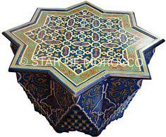 moorish blue star table - star of morocco