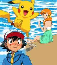 Here's a coloring of one of my favorite pairings of Pokémon, Ash x Misty (Satoshi x Kasumi). Ash and Misty ::Almost Kiss:: Pokemon Ash And Misty, Ash Pokemon, Pokemon Ships, Pokemon Games, Cute Pokemon, Dragon Ball Z, Pikachu, List Of Characters, Pokemon People