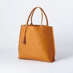 Bubo Handmade Leather Tote Bag, Black