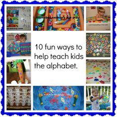 10 fun and easy ways to teach the alphabets