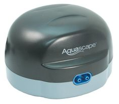 """Aquascape NEW Pond Aerator 2 by Aquascape. $47.98. Promotes a cleaner environment as it increases the breakdown of fish waste.. Includes winter safe tubing (with check valves) and aeration discs (4"""" diameter).. Air Pump in not submersible. Provides quiet, reliable operation and better air quality.. Increases circulation and oxygen levels.. The Aquascape Pond Air pumps oxygenate your pond, resulting in healthier fish and plants. Aeration is also an energy efficient way t..."""