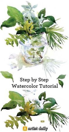 3 Free Floral Still Life Step by Step Tutorials in Watercolor #watercolorarts