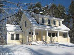 Story book dormer on a cape, plus love the porch!