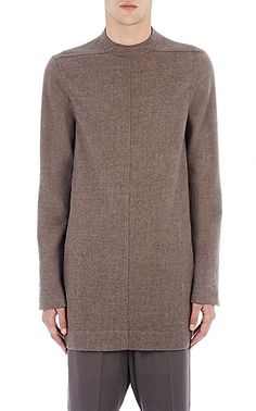 RICK OWENS Mélange Flannel Moody Tunic $905
