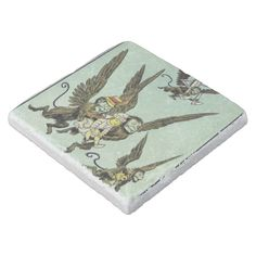 Vintage Wizard of Oz Flying Monkeys with Dorothy Stone Coaster #stories #retro #denslow #fantasy #americana #coasters #logo #stone #cork #personalize #monogram #drinks #kitchen #home #family Baby Monkey Pet, Wizard Of Oz Characters, Fairy Tale Images, Funny Vintage Ads, Stone Coasters, Wood Coasters, Pin Up Girl Vintage, William Wallace, Fairy Tales For Kids