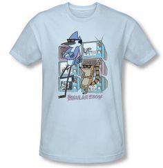 Regular Show shirt: http://www.cartoonnetworkshop.com/product/regular+show+mordecai+and+rigby+tv+adult+light+fitted+blue+tshirt+regtvtsf312.do?sortby=dateCreatedDescend&refType=&from=fn
