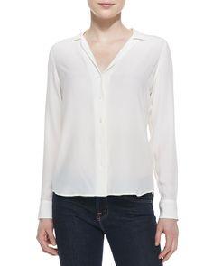 0276787b3d1b4e Equipment Adalyn Silk Long-Sleeve Blouse