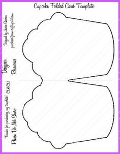 CUPCAKE FOLDED CARD TEMPLATE PNG by Janice Shehan A CUTE DESIGN FOR ANY CELEBRATION CARD. THIS IS IN PNG FORMAT SO YOU CAN BE AS CREATIVE AS YOU WISH! ENJOY!
